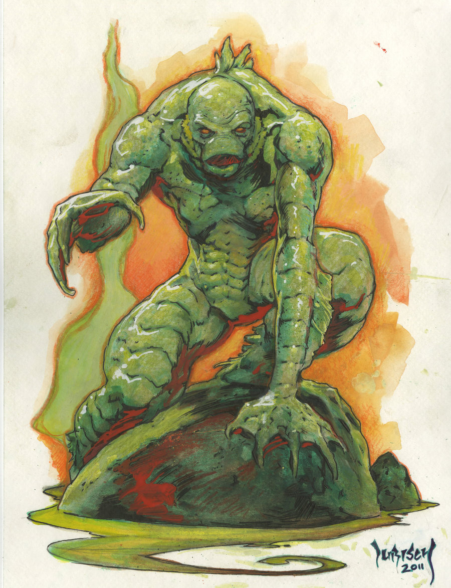 900x1173 Creature From The Black Lagoon By Dubisch - Creature From The Black Lagoon Painting