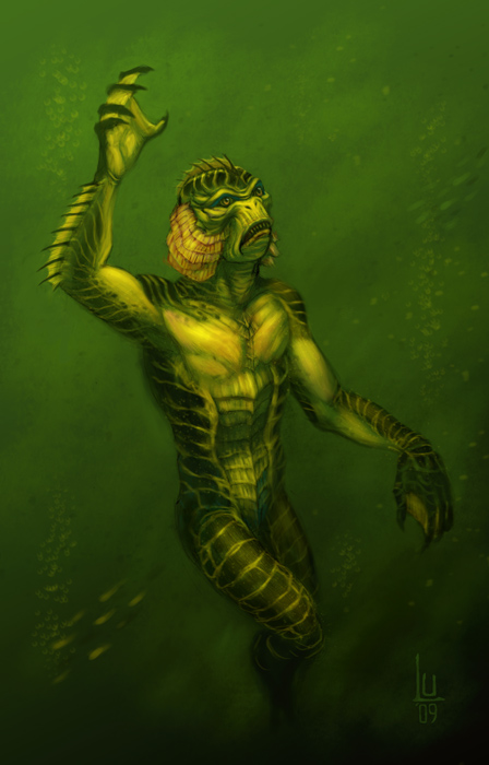 448x700 Creature From The Black Lagoon By Luvazquez - Creature From The Black Lagoon Painting