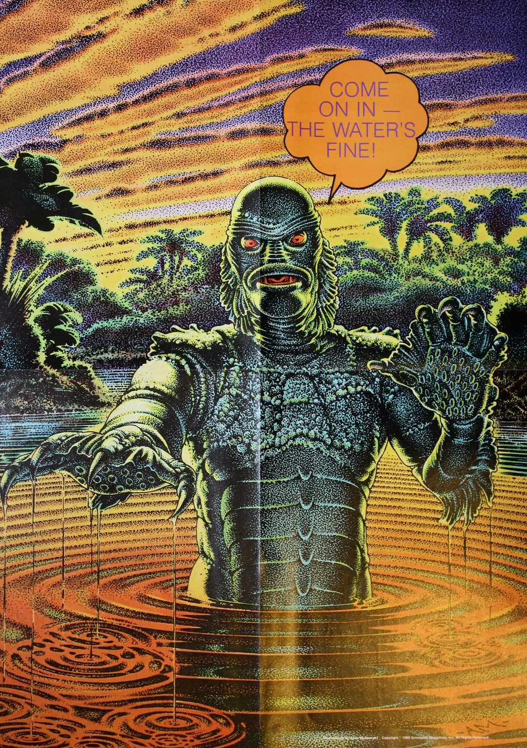 1041x1478 Creature From The Black Lagoon Poster From Weird Worlds - Creature From The Black Lagoon Painting