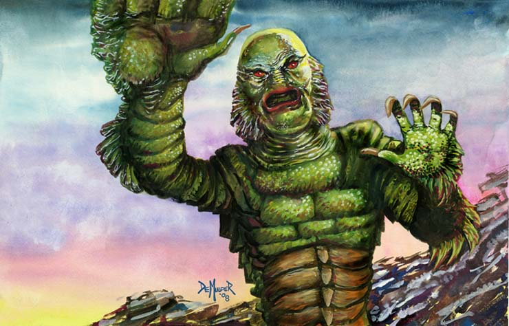 740x474 Creature From The Black Lagoon By Kimdemulder - Creature From The Black Lagoon Painting