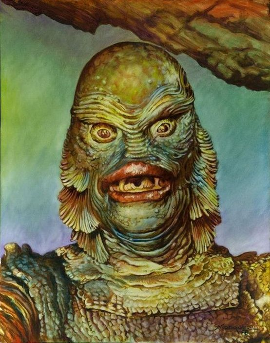 554x703 Creature From The Black Lagoon. No Pin - Creature From The Black Lagoon Painting