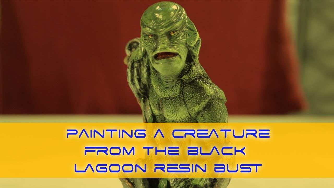1280x720 How To Paint A Creature From The Black Lagoon - Creature From The Black Lagoon Painting