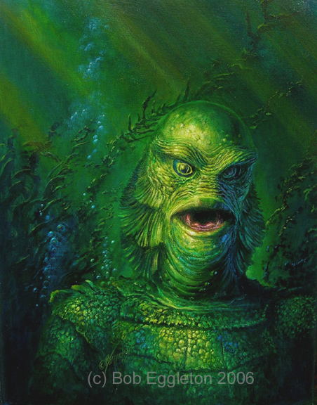 452x576 Kraken Painting Pin Research - Creature From The Black Lagoon Painting