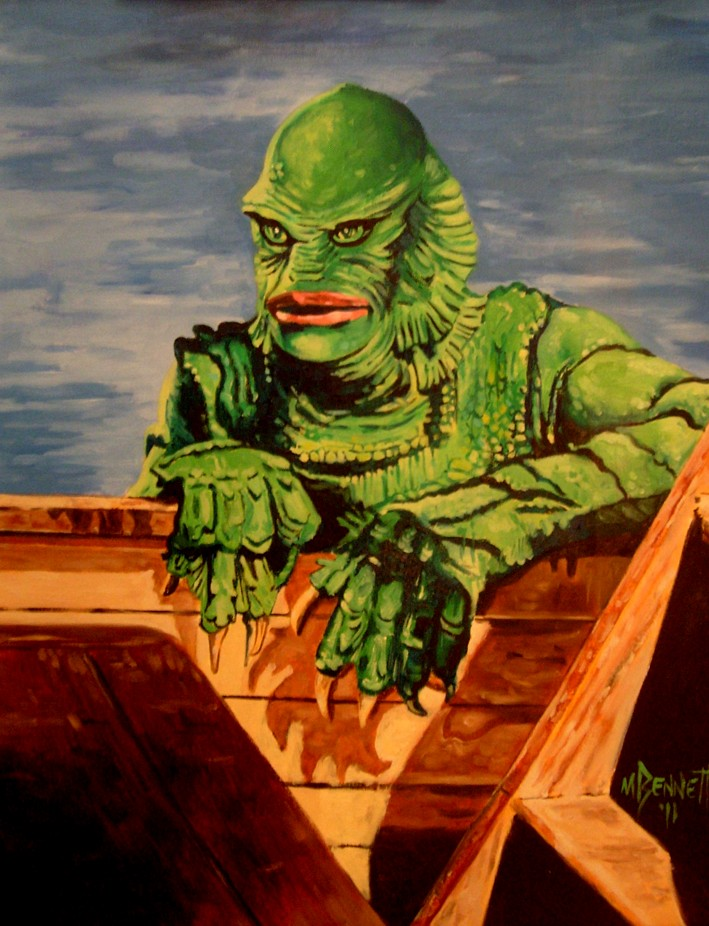 709x926 Peel The Paint The Creature From The Black Lagoon - Creature From The Black Lagoon Painting