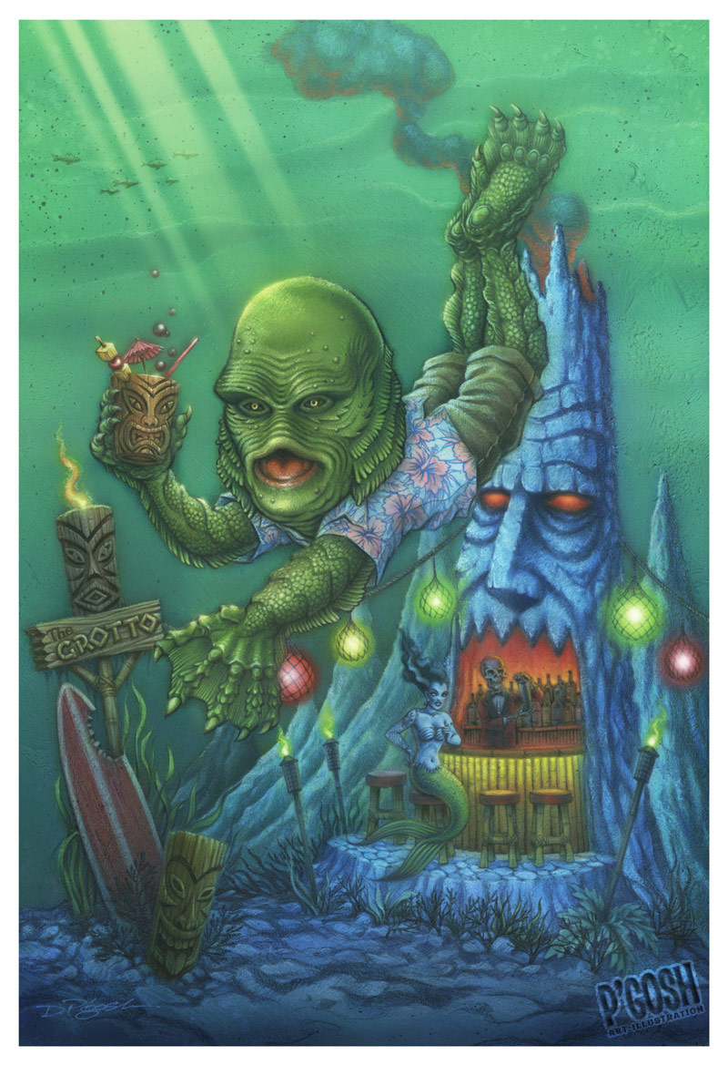 800x1169 Portfolio Detail P'Gosh - Creature From The Black Lagoon Painting