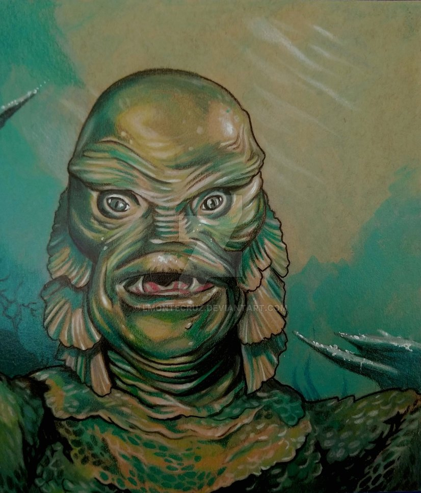 826x967 The Creature From The Black Lagoon By Lmontecruz - Creature From The Black Lagoon Painting
