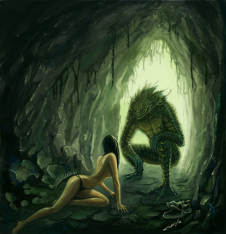 750x777 Creature From The Black Lagoon By Chantiago - Creature From The Black Lagoon Painting