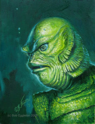 305x400 Bob's Art Du Jour From The Black Lagoon!!! - Creature From The Black Lagoon Painting