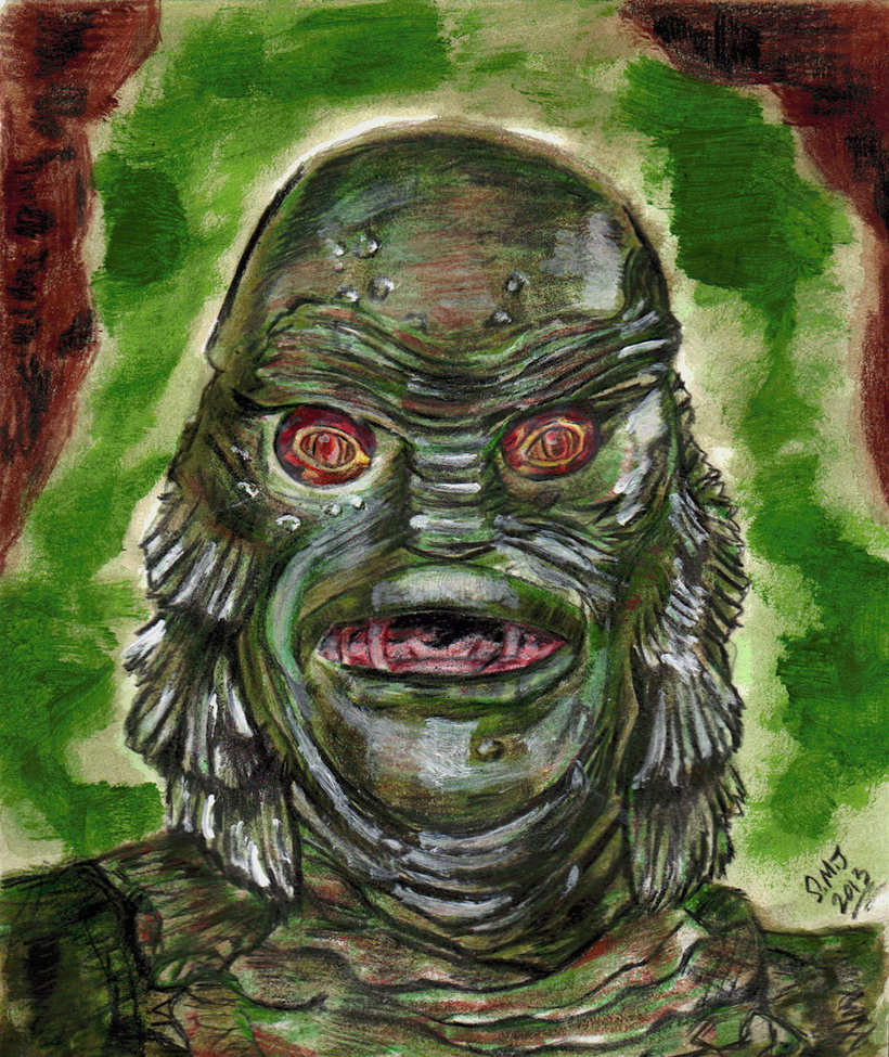 820x975 Creature From The Black Lagoon - Creature From The Black Lagoon Painting