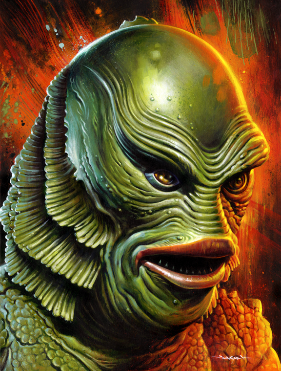 576x759 Creature From The Black Lagoon Jason Edmiston - Creature From The Black Lagoon Painting