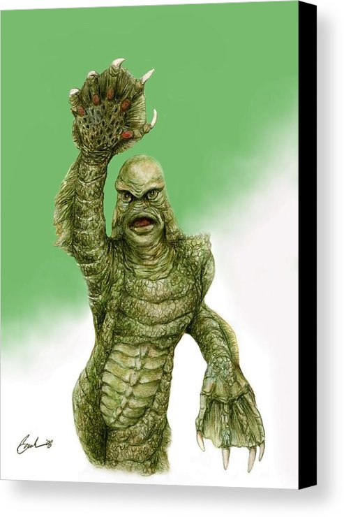 493x740 Creature From The Black Lagoon Canvas Print Canvas Art By Bruce - Creature From The Black Lagoon Painting