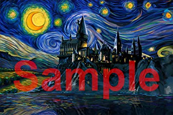 Harry Potter Starry Night Painting