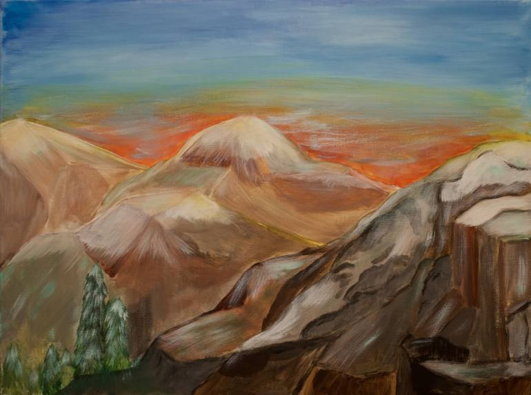 770x573 Saatchi Art A Mountain View Painting By Becky Danese - Mountain View Painting