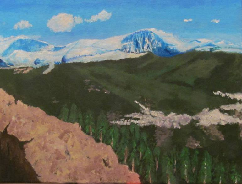 770x588 Saatchi Art Mountain View Painting By Ian Hunter - Mountain View Painting