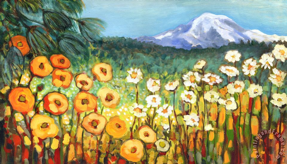 960x549 Jennifer Lommers A Mountain View Painting - Mountain View Painting