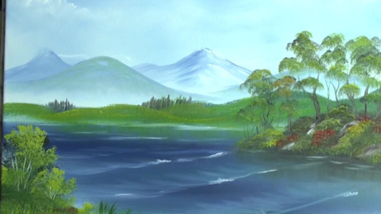 1280x720 Lakeland View - Mountain View Painting