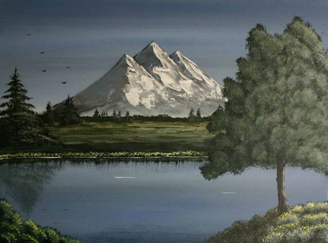 650x483 Mountain View (Christy Mc Guire) - Mountain View Painting