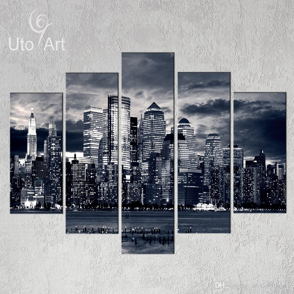 Black and White New York City Canvas Multi Panel Wall Art Picture Home Decor