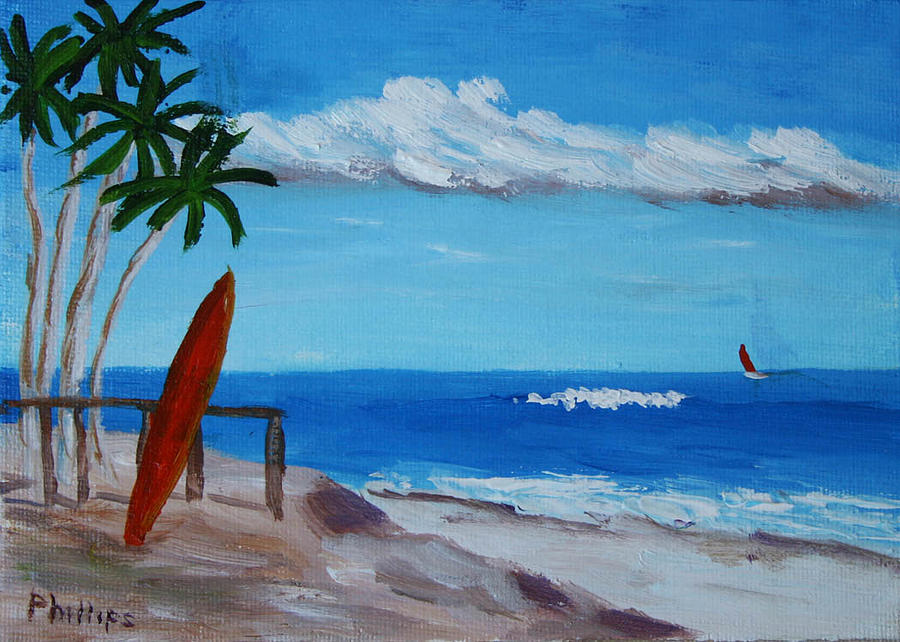 900x642 Ocean View Painting By Bob Phillips - Ocean View Painting