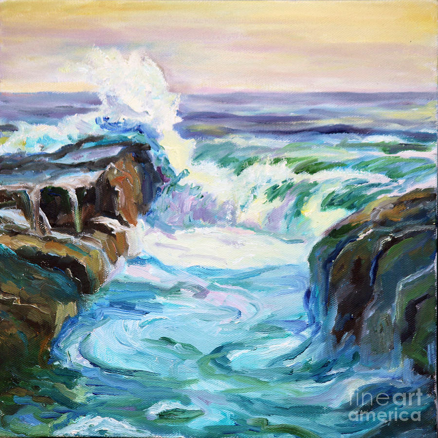 900x900 Ocean View Painting By Catherine Moore - Ocean View Painting