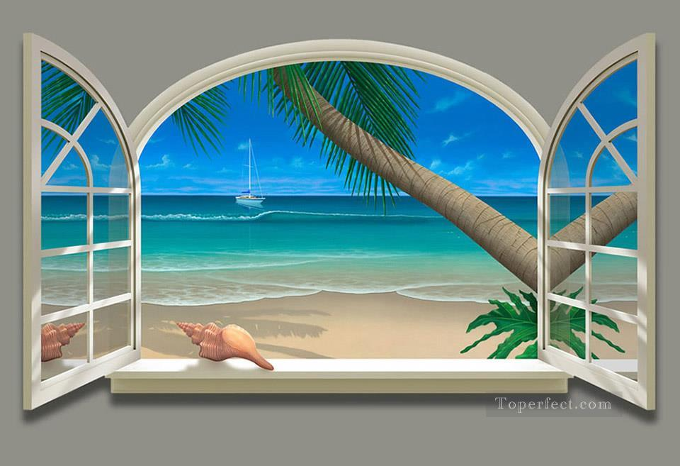 960x657 Ocean View Magic 3d Painting In Oil For Sale - Ocean View Painting