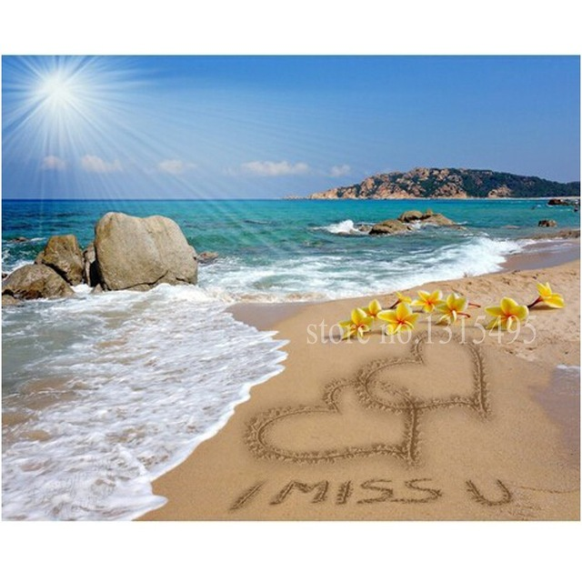 640x640 Ocean View 5d Of The Diamond Embroidery Painting Cross Stitch - Ocean View Painting