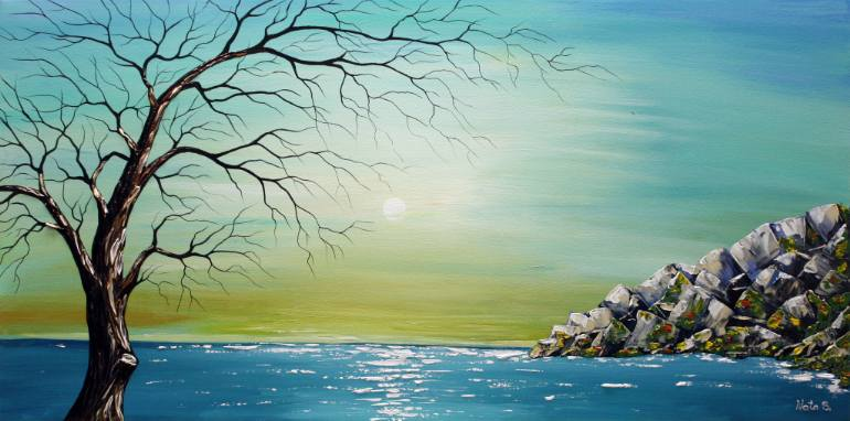 770x382 Saatchi Art Ocean View Painting By Nataliya Stupak - Ocean View Painting