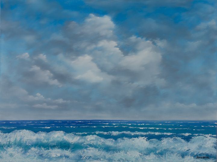 720x539 Seascape Ocean View In Oil - Ocean View Painting