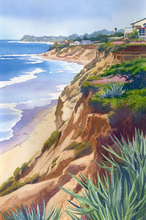 598x900 Solana Beach Ocean View Painting By Mary Helmreich - Ocean View Painting