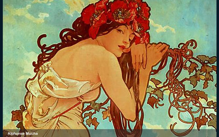 Woman Art Nouveau Paintings