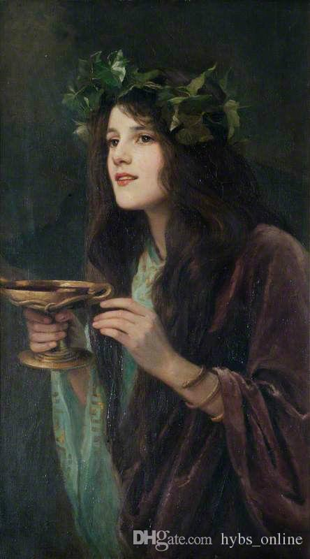 444x800 2018 Beatrice Offor Circe Beautiful Young Girl Holding Cup - Painting Of Young Girl