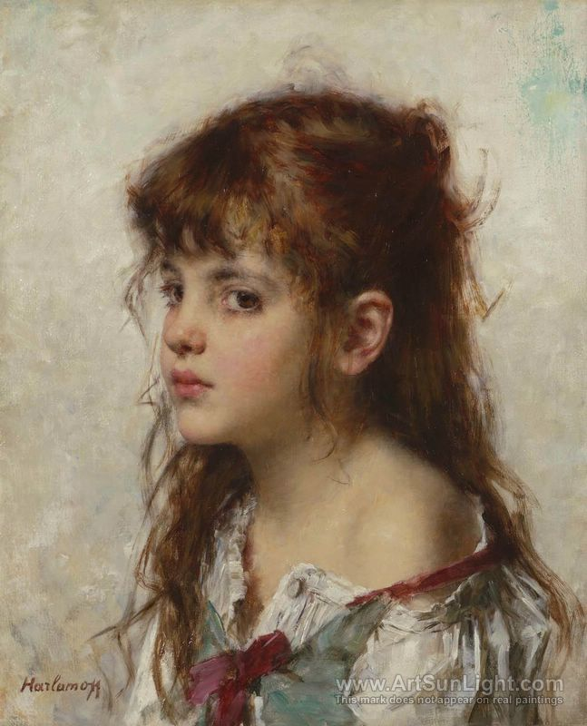 647x800 Portrait Of A Young Girl - Painting Of Young Girl