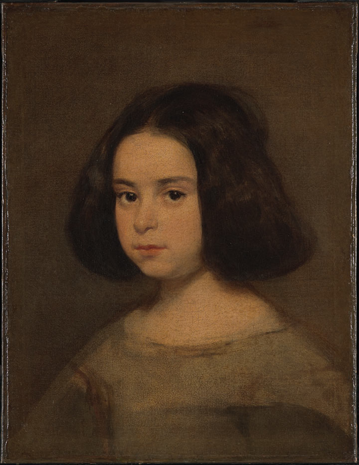 720x933 Portrait Of A Young Girl A Conservator's Approach - Painting Of Young Girl