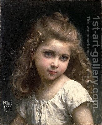 325x400 Portrait Of A Young Girl Jules Cyrille Cave Reproduction 1st Art - Painting Of Young Girl