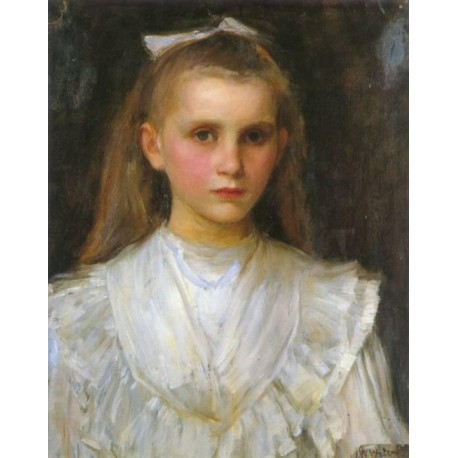 458x458 Portrait Of A Young Girl By John William Waterhouse Art Gallery - Painting Of Young Girl