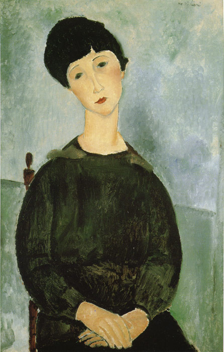446x700 Young Girl, 1918 - Painting Of Young Girl
