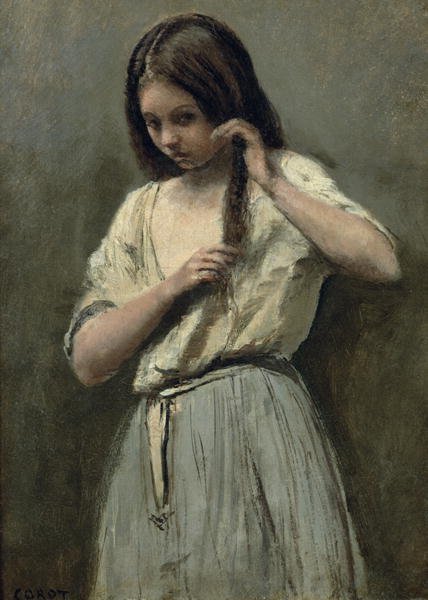 428x600 Young Girl - Painting Of Young Girl