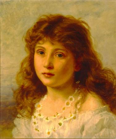 376x450 Young Girl Painting, Aanderson Sophie Paintings Reproduction, We - Painting Of Young Girl