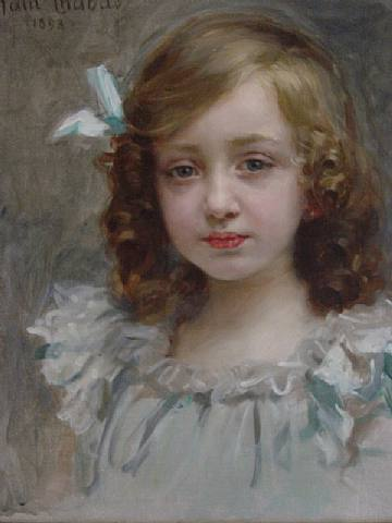 360x480 Portrait Of A Young Girl By Paul Emile Chabas - Painting Of Young Girl