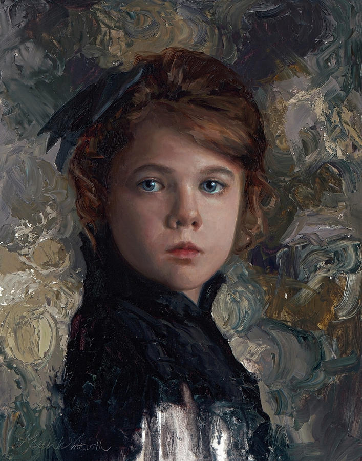 707x900 Classical Portrait Of Young Girl In Victorian Dress Painting By - Painting Of Young Girl