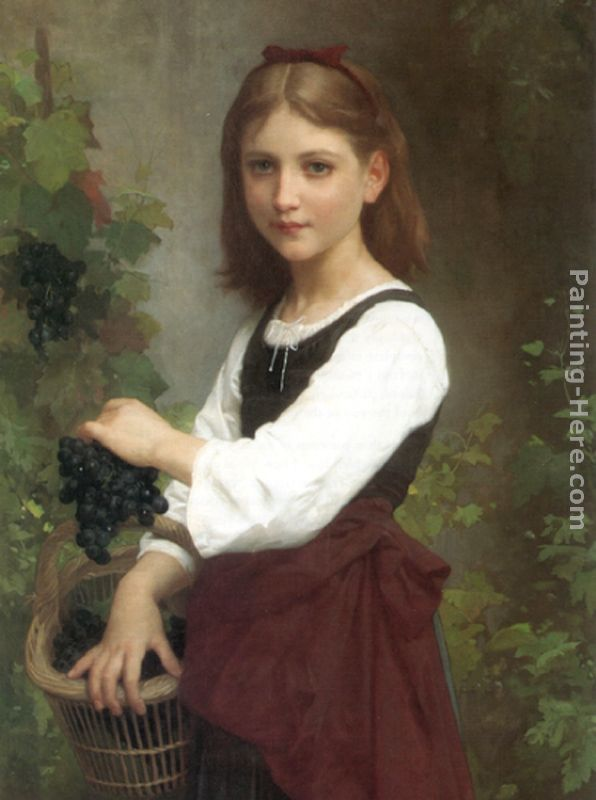 596x800 Elizabeth Jane Gardner Bouguereau Young Girl Holding A Basket - Painting Of Young Girl