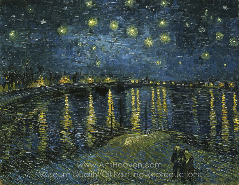 820x634 Van Gogh Starry Night Over The Rhone Van Gogh Painting - Starry Night Over The Rhone Painting