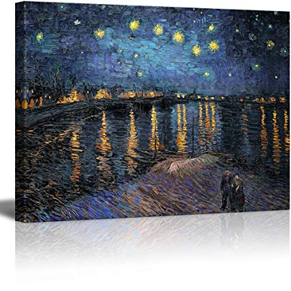425x425 Wall26 Canvas Print Wall Art - Starry Night Over The Rhone Painting