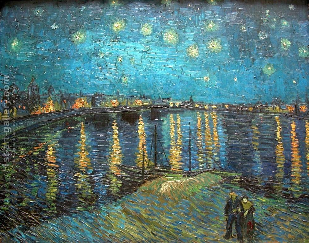 1000x788 Starry Night Over The Rhone Vincent Van Gogh Reproduction 1st - Starry Night Over The Rhone Painting