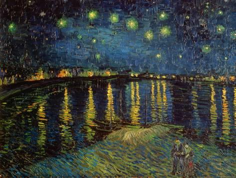 473x356 Starry Night Over The Rhone, C.1888 Art By Vincent Van Gogh - Starry Night Over The Rhone Painting