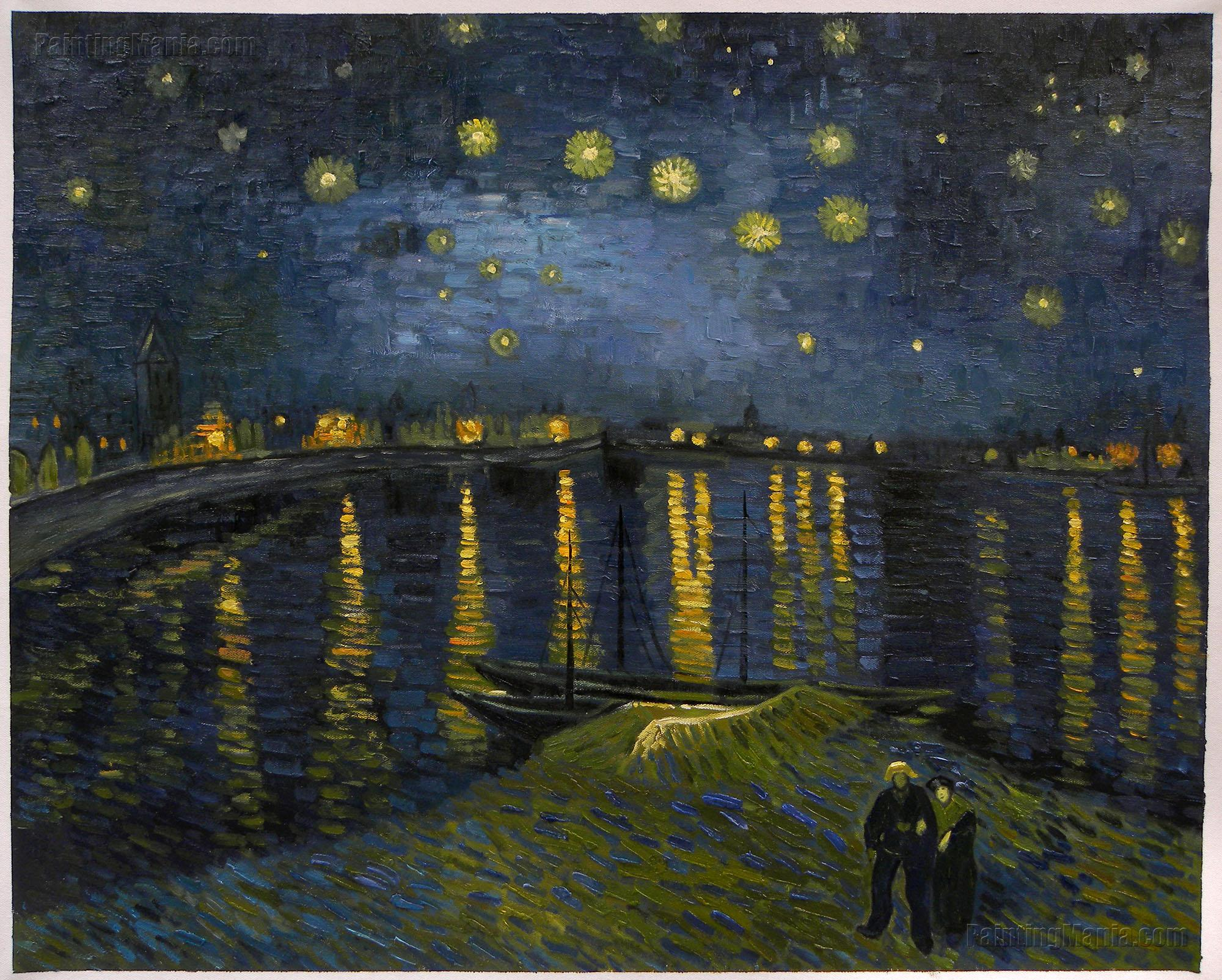 2000x1603 Starry Night Over The Rhone - Starry Night Over The Rhone Painting