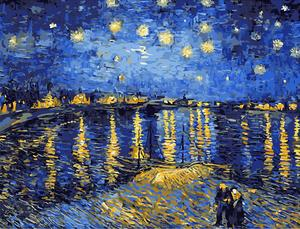300x229 Starry Night Over The Rhone By Vincent Van Gogh, 1889 Paint By - Starry Night Over The Rhone Painting
