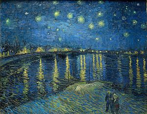 300x233 Starry Night Over - Starry Night Over The Rhone Painting