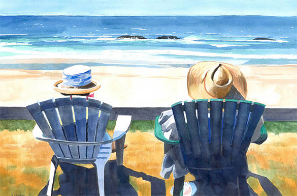 Summer Beach Painting