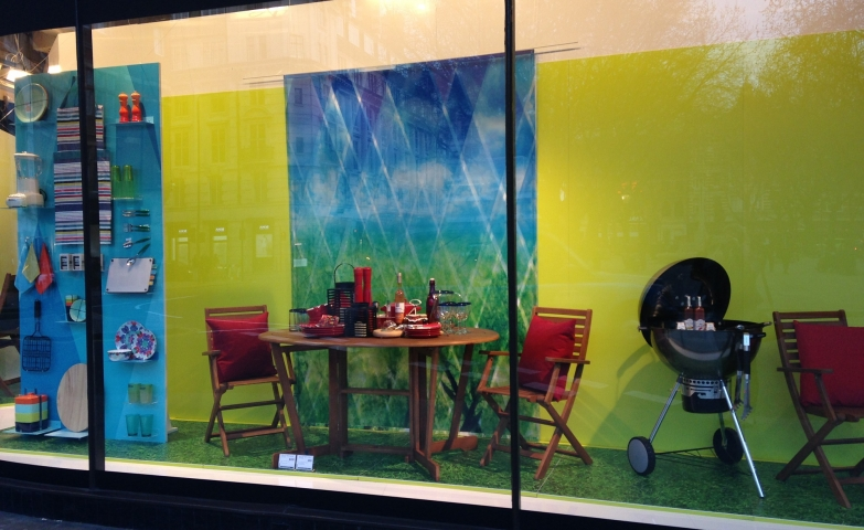 Summer Window Painting
